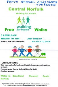 Walking for Health flyer